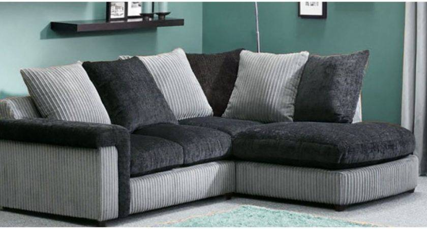 Black Grey Corner Sofa Brokeasshome