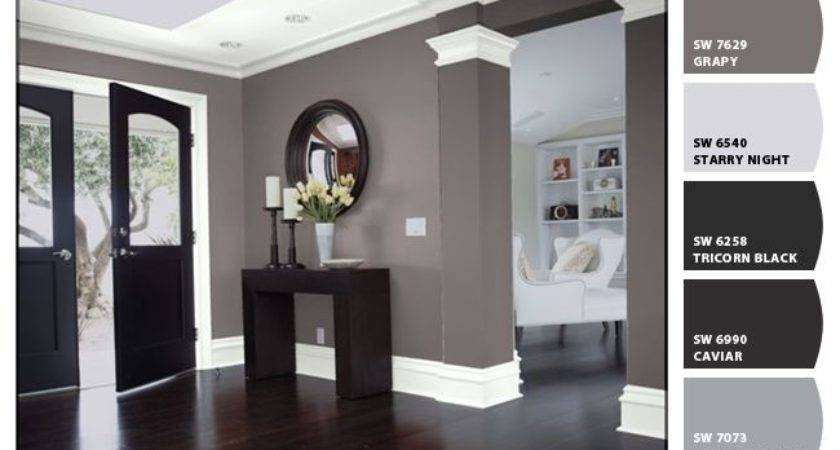 Black Interior Doors White Trim Two Coats All Surface