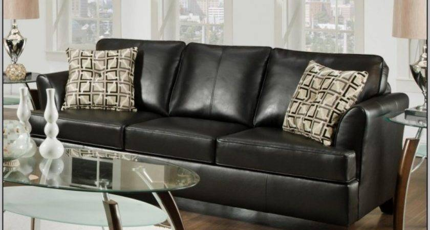 Black Leather Sectional Couches Inspiration Decorating