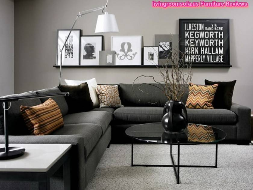 Black Living Room Furniture Dark Gray
