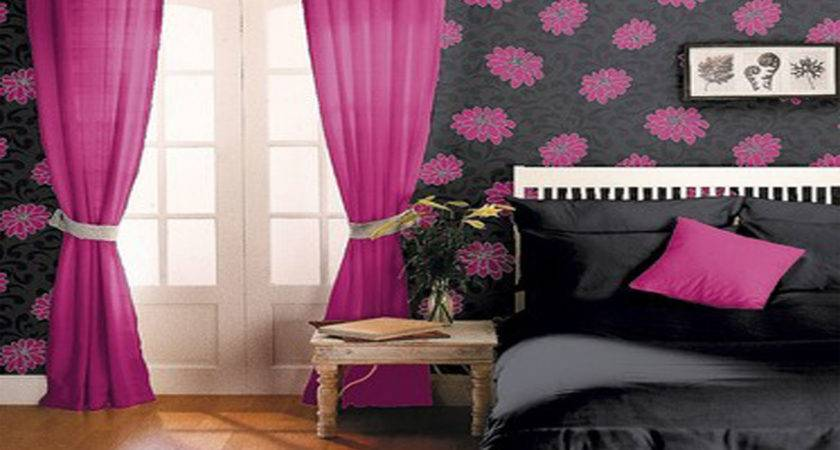 Black Pink Bedroom Set Decosee