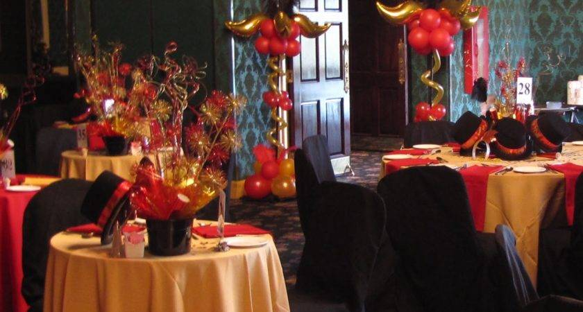 Black Red Table Decorations Party Photograph
