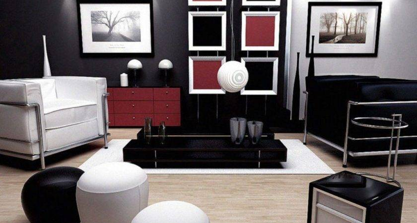 23 Pictures Red Black White Living Room Homes Decor
