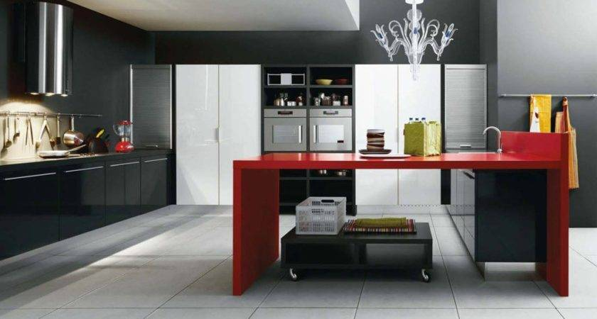 Red White And Black Kitchen Designs Inspiration Homes Decor