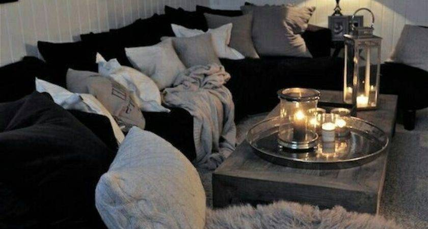 Black Silver Living Room Home Decorations