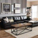 Black Sofa Grey Walls Best Sofas Living Room Design