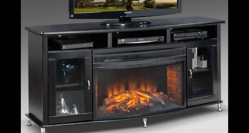 Black Stand Fireplace Youtube