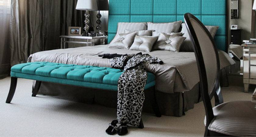 Black Turquoise White Bedroom Ideas Home Decorating