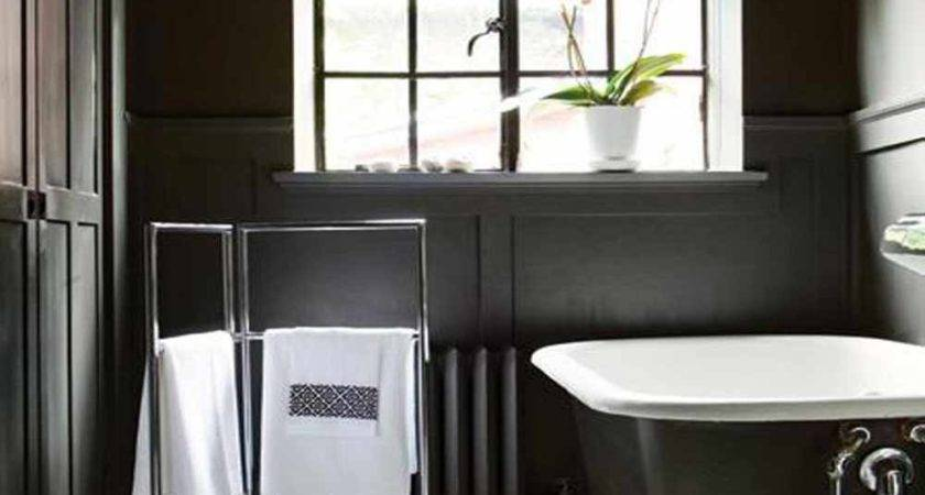Black White Bathroom Decor Ideas Grasscloth