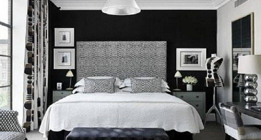 Black White Bedroom Accent Wall Paint Ideas Blue
