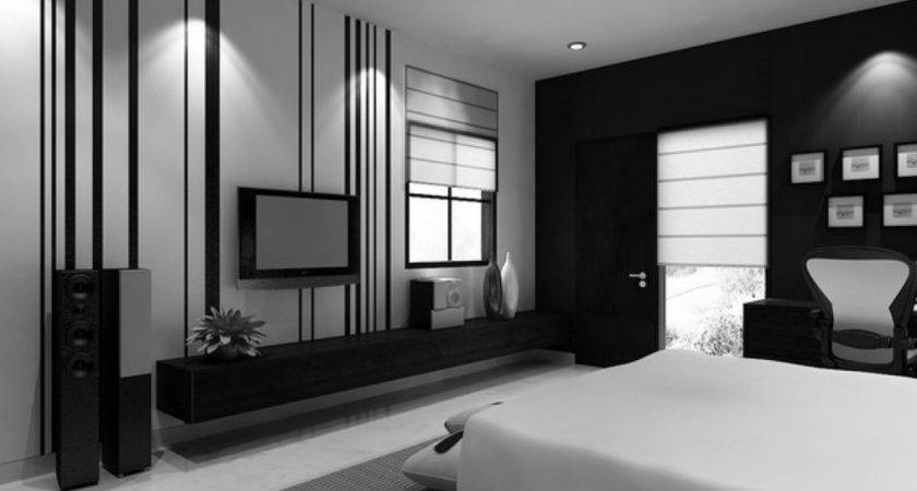 Black White Bedroom Interesting Single Bed