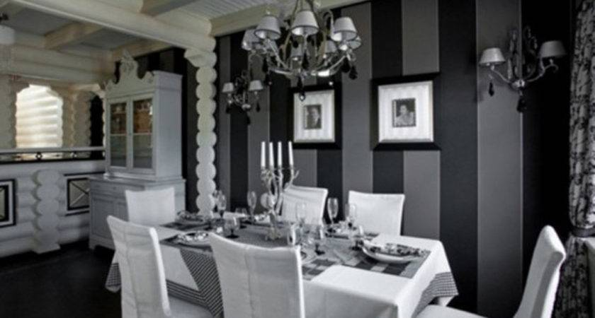 Black White Dining Room Home Design Furniture