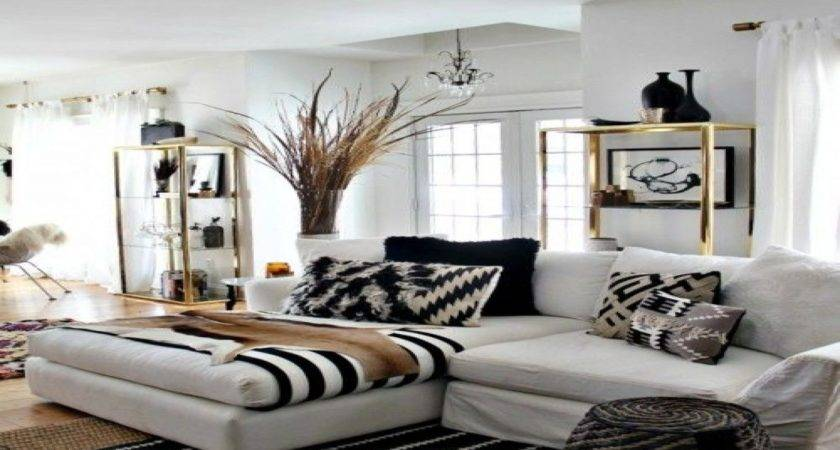 Black White Gold Living Room Ideas Nakicphotography
