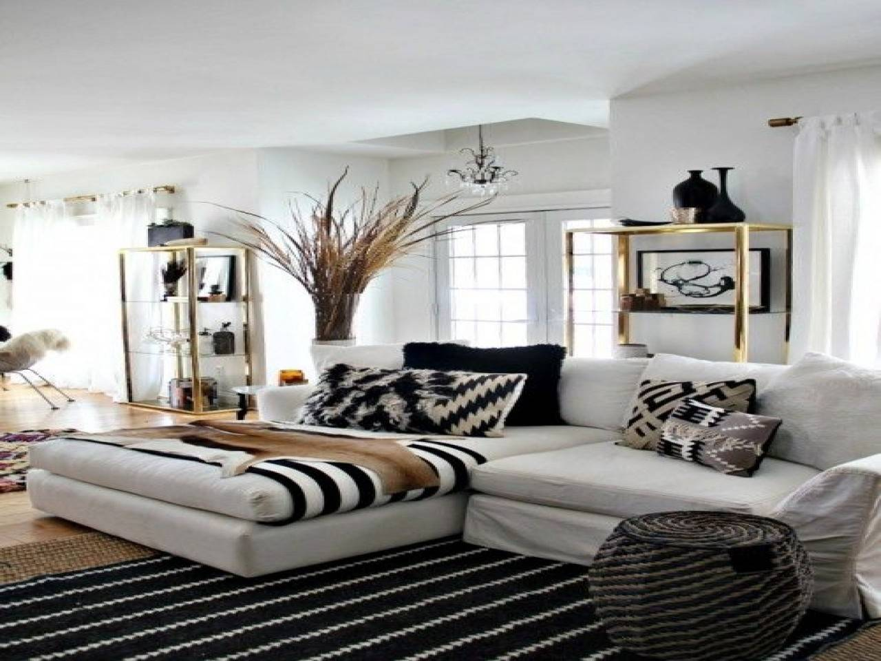 Black White Gold Living Room Ideas Nakicphotography Homes Decor