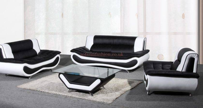 Black White Leather Sofa Set Carehouse Info