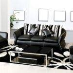 Black White Leather Sofa Set Contemporary