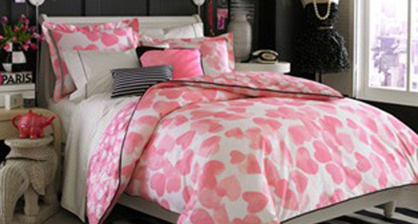 Black White Pink Bedroom Traditionalonly Info