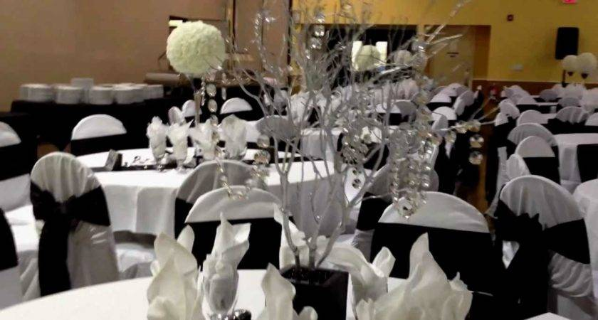 Black White Reception Centerpieces Archives