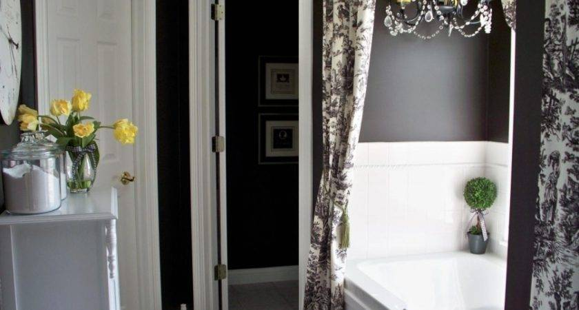 Black White Red Bathroom Decorating Ideas Small
