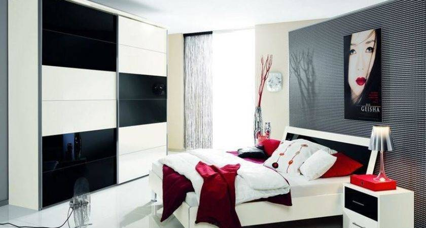 Black White Red Bedroom Decorating Ideas Nrtradiant