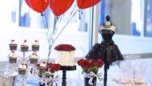 Black White Red Elegant Birthday Party Via Kara