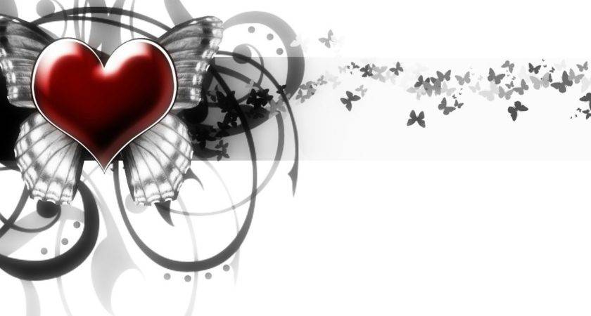 Black White Red Heart Missliss Deviantart