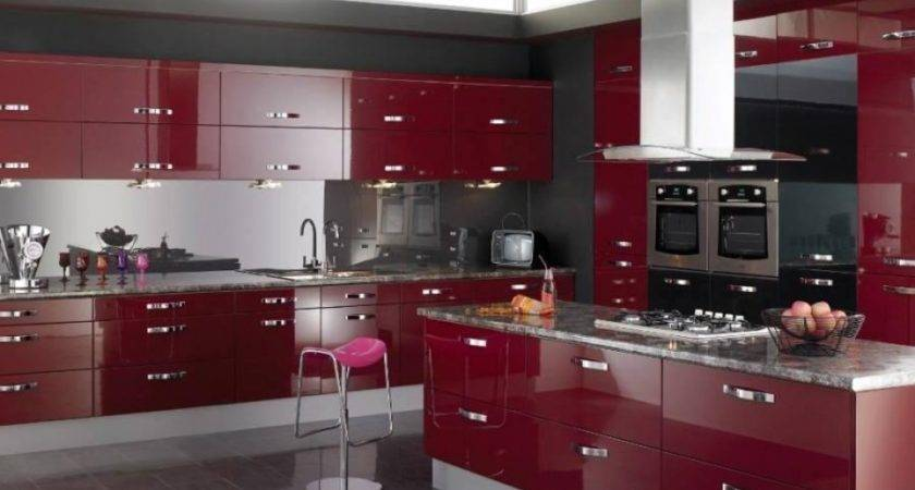 Black White Red Kitchens Kitchen