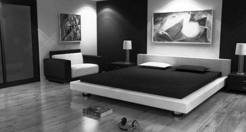 Black White Themed Bedroom Decorating Wellbx