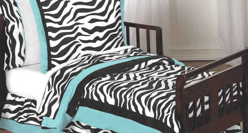 Black White Turquoise Bedding
