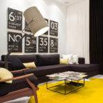 Black White Yellow Color Combination Contemporary