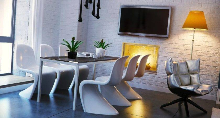Black White Yellow Dining Room Design Olpos