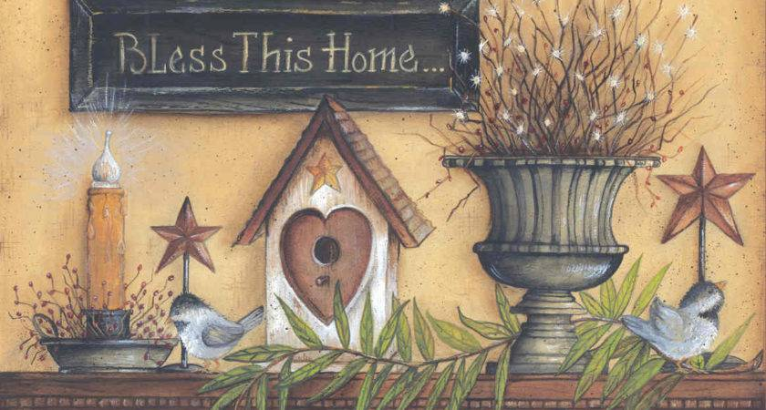 Bless Home Mary Ann July Art Print Framed