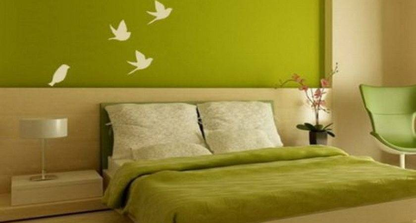 Bloombety Bedroom Green Paint Design Ideas