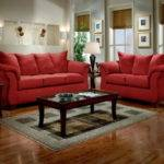 Bloombety Casual Living Room Furniture Red Sofa
