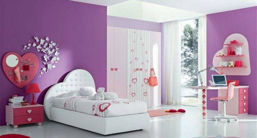 Bloombety Ideas Paint Girls Room White Purple Color