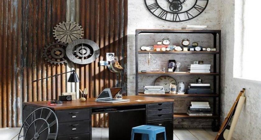 Bloombety Industrial Interior Design Ideas Home Office