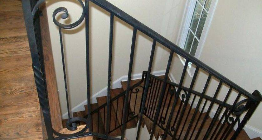 Bloombety Iron Black Stair Railing