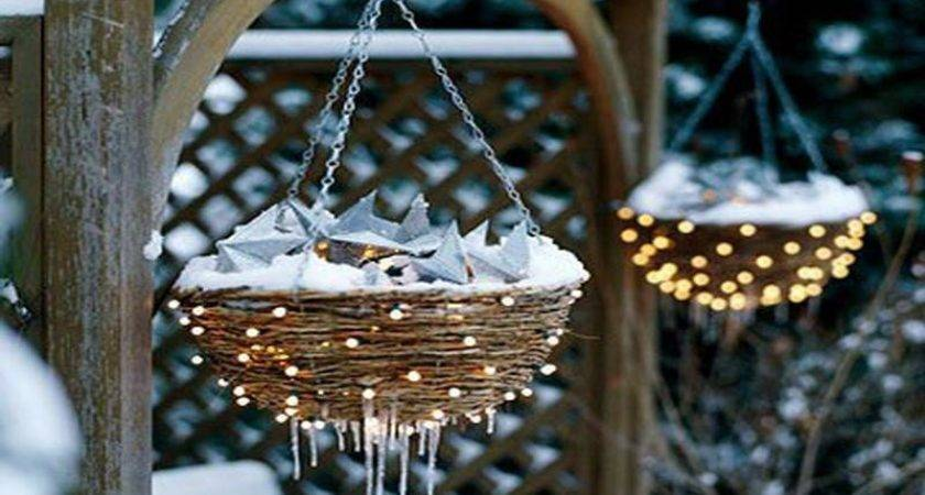Bloombety Lighted Hanging Planters Outdoor