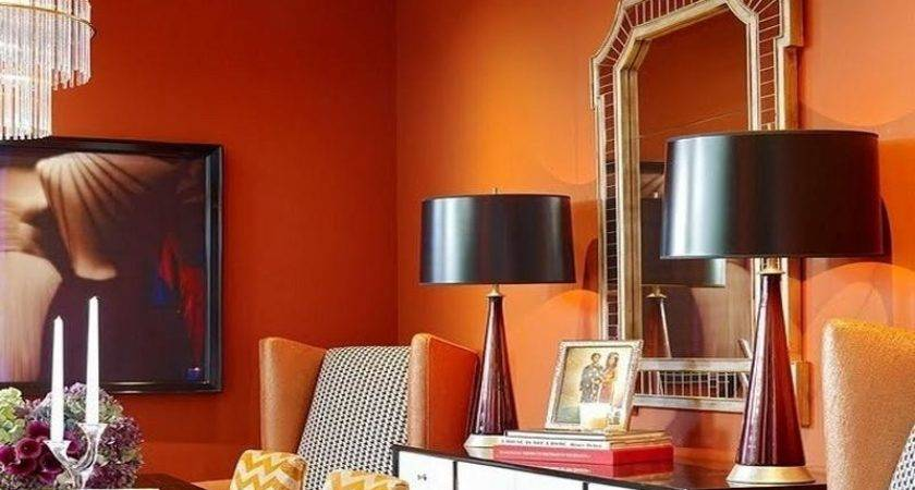 Bloombety Orange Red Paint Colors Living Room