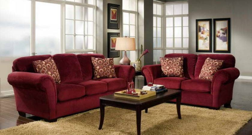Bloombety Simple Living Room Ideas Red Sofa