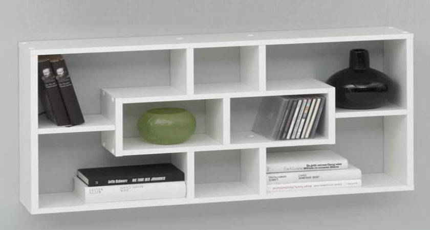 Bloombety Wall Shelving Ideas White Color