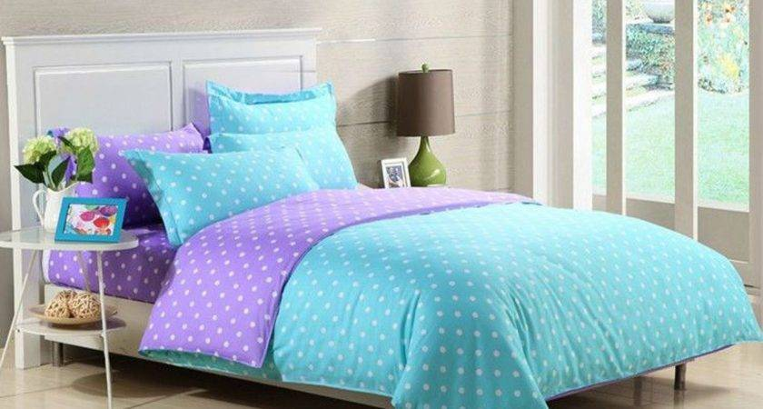 Blue Bedding Set Floral Pattern Combined