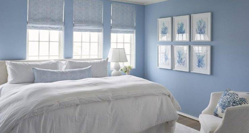 Blue Bedroom Coral Art Wall Cottage