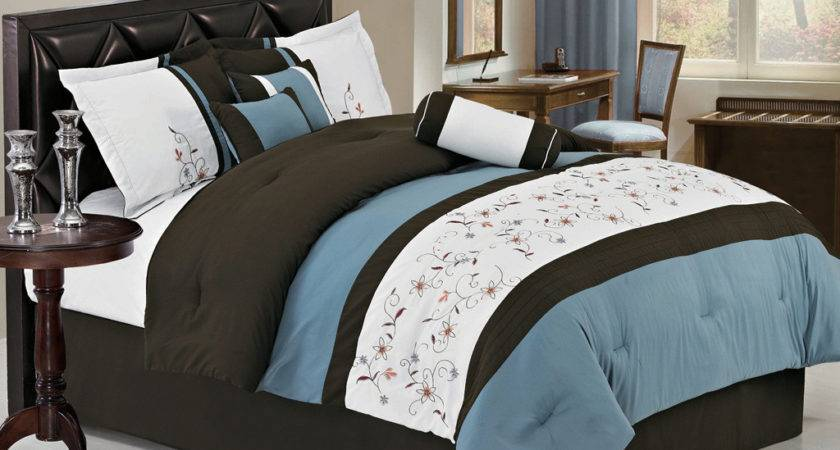 Blue Brown Bedspreads Not Comforters Pin