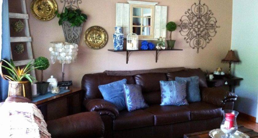 Blue Brown Living Room Decorating Ideas