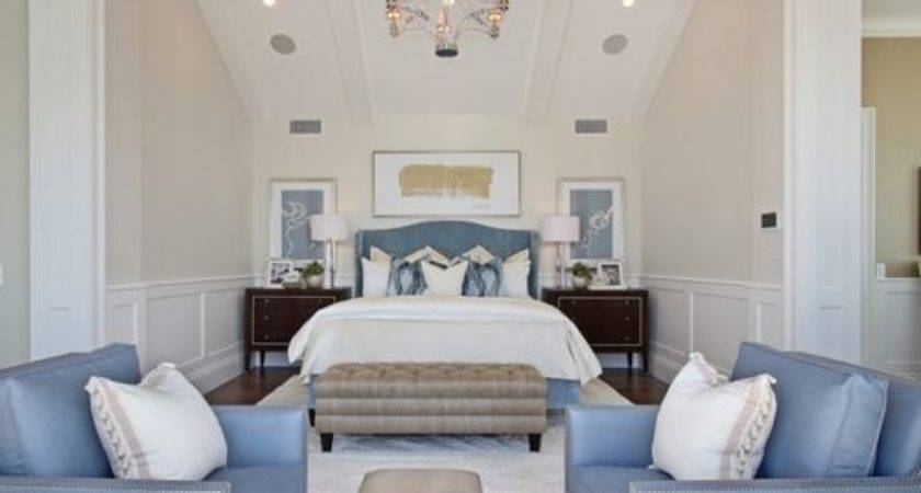 Blue Cream Bedrooms Home Design Ideas Remodel
