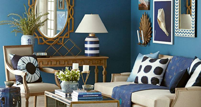 Blue Gold Living Room Decor Ideas Meliving