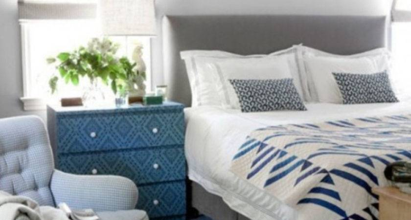 Blue Gray Rustic Decor Bedroom Just Decorate