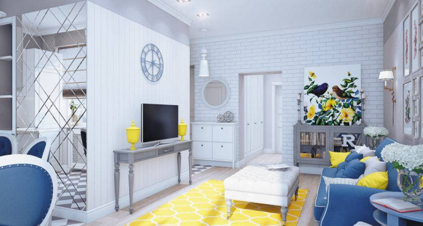 Inspiring Yellow And Blue Room Decor Photo Homes Decor