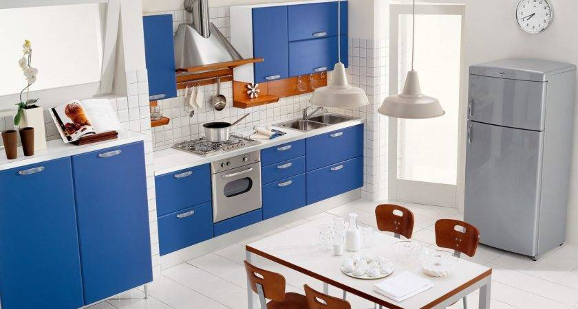 Blue Kitchen Decor Ideas Design